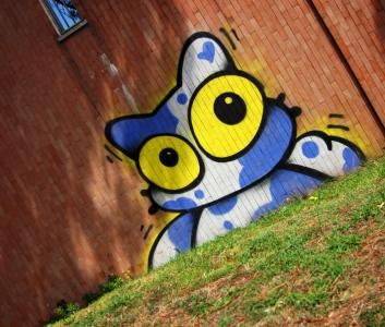 streetart katze